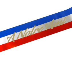 TN FUNERAL RIBBON BLUE WHITE RED CORSICA