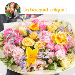 BOUQUET DEUIL MULTICOLORE