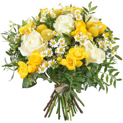 DOM TOM FUNÉRAL BOUQUET SUNSHINE