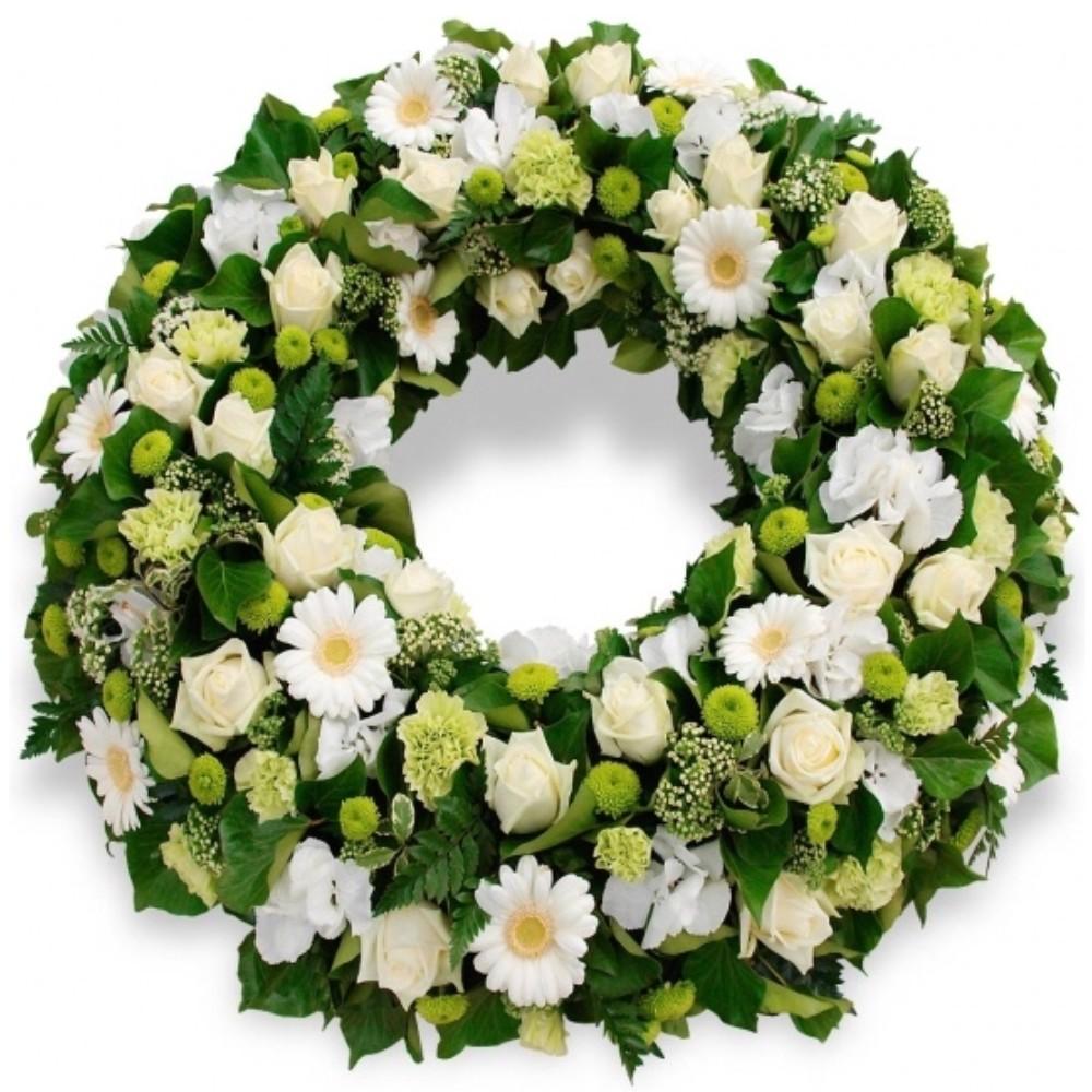 funeral wreath,