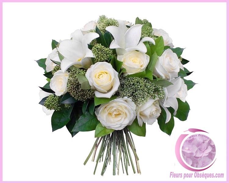 bouquet de fleurs deuil