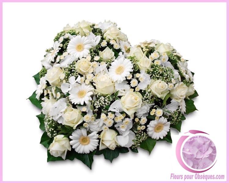 les coeur de fleurs deuil